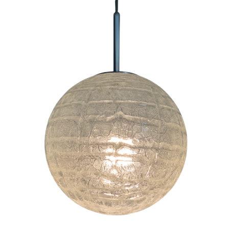 Glazen Globe Hanglamp van Doria Leuchten, 1970s | Vintage Design
