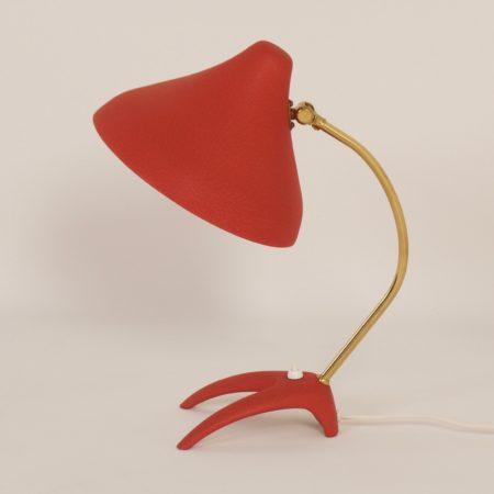 Rode Bureaulamp uit Zweden van Ewa Värnamo, 1950s