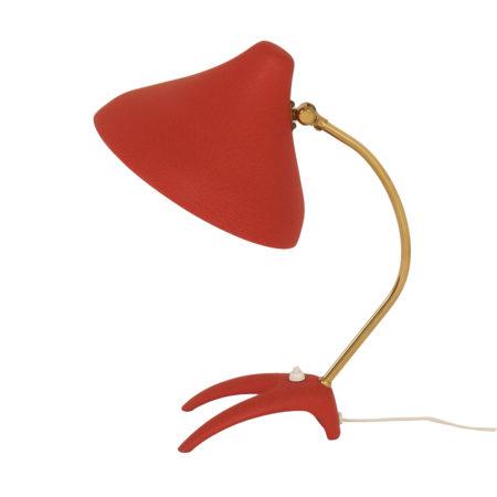 Rode Bureaulamp uit Zweden van Ewa Värnamo, 1950s | Vintage Design