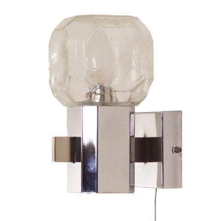 Glazen Wandlamp van Cosack Leuchten, 1960s | Vintage Design