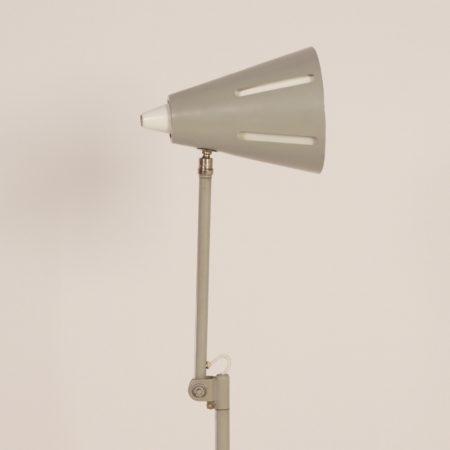 Grijze Zonneserie Vloerlamp Model 15 van H. Busquet voor Hala, 1950s