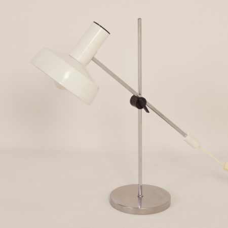 Witte Bureaulamp van J. Hoogervorst voor Anvia, 1960s