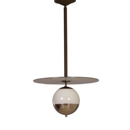 Art Deco Hanglamp met Saturnus Ring van Philips, 1930s