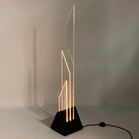 """Vloerlamp """"Xenon"""" van Franco Berg voor Berg Licht & Object, 1980s"""