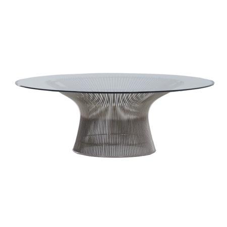 Glazen Salontafel van Warren Platner voor Knoll, 2000s   Vintage Design