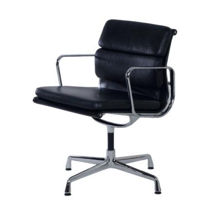 Zwarte EA 208 Bureaustoel van Charles & Ray Eames voor Vitra, 2000 | Vintage Design