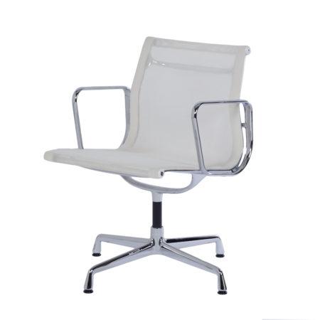EA 108 Bureaustoel in Witte Netweave van Charles & Ray Eames voor Vitra, 2000s | Vintage Design