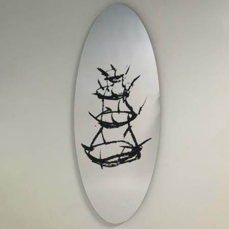 """Wandspiegel """"Scolabottigle"""" van Dino Gavina voor Centro Duchamp, 1990s"""