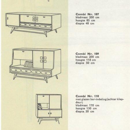 Teakhouten Kast van Louis van Teeffelen voor Wébé, 1960s – Met Tegeltjes van Ravelli