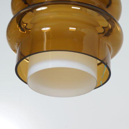 Glazen Cirkel Hanglamp van Jo Hammerborg voor Fog & Mørup, 1960s