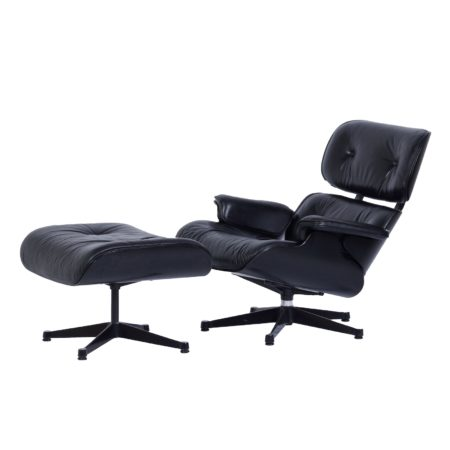 Lounge Chair + Ottoman van Charles Eames voor Vitra, 1980s