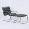 MR Lounge Stoel met Hocker van Mies v.d. Rohe voor Knoll, 2000s