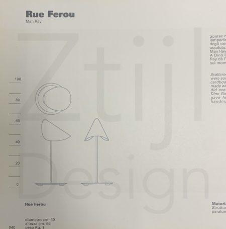 Reu Ferou Tafellampen van Man Ray, Editie Dino Gavina, 2000s – Set van Twee