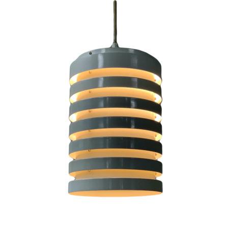 Hanglamp van Hans-Agne Jakobsson AB Markaryd, 1960s – Witte Aluminium Ringen | Vintage Design