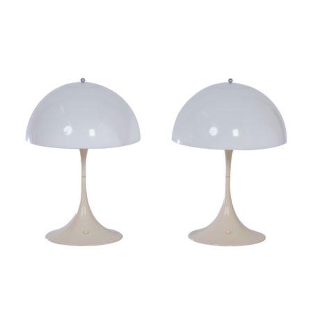 Panthella Tafellampen van Verner Panton voor Louis Poulsen, 1970 – 1e Editie, Set van Twee | Vintage Design