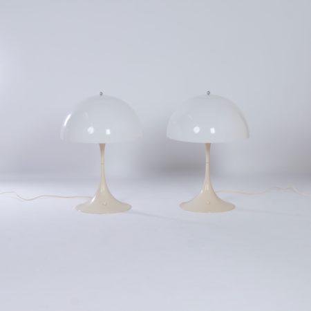 Panthella Tafellampen van Verner Panton voor Louis Poulsen, 1970 – 1e Editie, Set van Twee