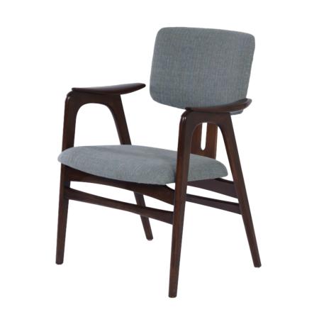 Bijzetstoel van Cees Braakman voor Pastoe, 1950s – Opnieuw Bekleed | Vintage Design
