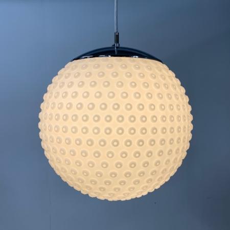 Opalineglazen Hanglamp van van Rolf Krüger voor Staff, 1960s