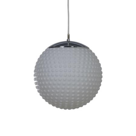 Opalineglazen Hanglamp van van Rolf Krüger voor Staff, 1960s | Vintage Design