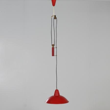 Hanglamp met Contragewicht toegeschreven aan Gino Sarfatti voor Arteluce, 1940s