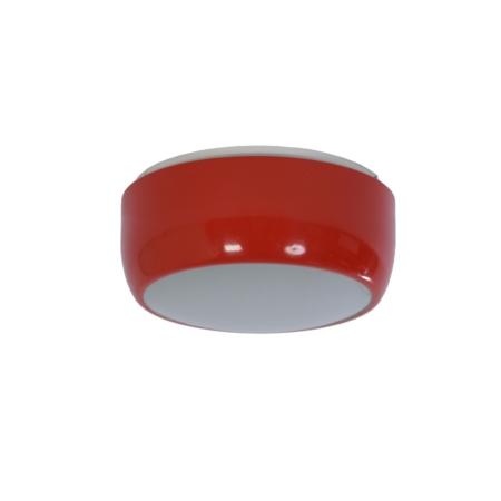 Oranje Plafondlamp van Napako, 1950s – Metaal en Glas | Vintage Design