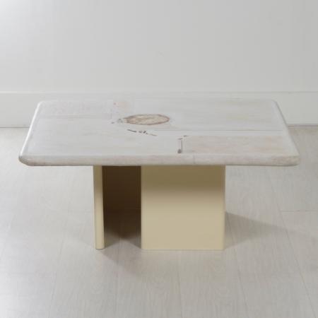 Natuurstenen Kingma Salontafel van Paul Kingma, 2001 – Vierkant 90 cm