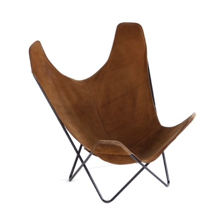 BKF Vlinderstoel van Jorge Ferrari-Hardoy, Juan Kurchan en Antonio Bonet, 1970s – Bruin Suede | Vintage Design