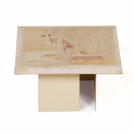 Kleine Witte Salontafel van Paul Kingma, 1980s | Vintage Design