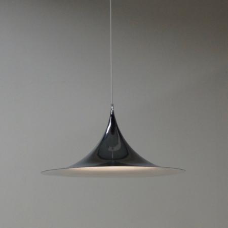 Grote Chromen Semi Hanglamp van Bonderup en Thorup voor Fog en Morup, 1970s