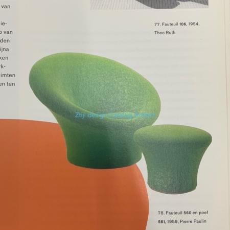 Mushroom Fauteuil met Voetenbankje 560/561 van Pierre Paulin voor Artifort, 1960s
