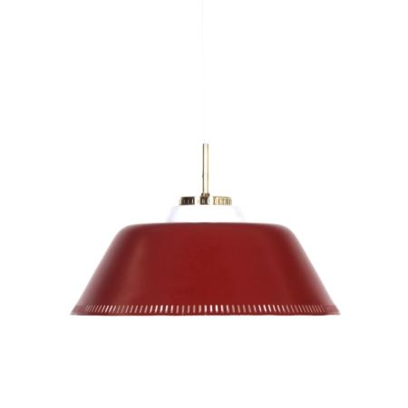 Rode Deense Hanglamp van Bent Karlby voor Lyfa, 1960s | Vintage Design