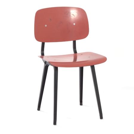 Rode Revolt Stoel van Friso Kramer voor Ahrend de Cirkel, 1950s | Vintage Design
