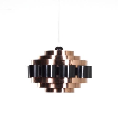 Koperen Hanglamp van Werner Schou voor Coronell Elektro, 1970s – Denemarken | Vintage Design