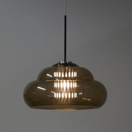 Vintage Hanglamp met Geperforeerd Binnenwerk van Dijkstra Lampen, 1970s