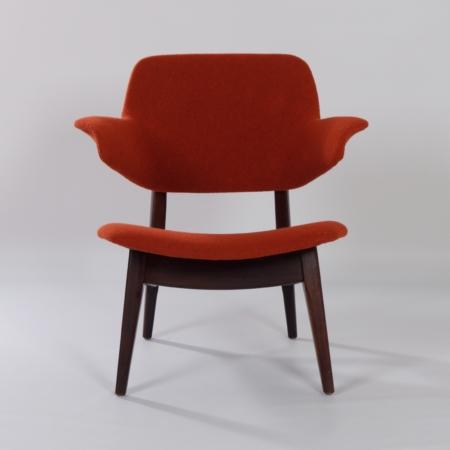 Wing Fauteuil van Louis van Teeffelen voor Webe, 1960s – Nieuwe Kvadrat Bekleding