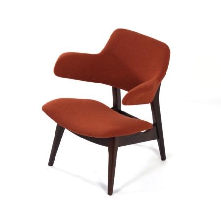 Wing Fauteuil van Louis van Teeffelen voor Webe, 1960s – Nieuwe Kvadrat Bekleding | Vintage Design
