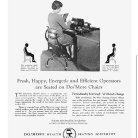 """Ergonomische """"Doe Meer Stoel"""" van Tan Sad, Engeland voor Ahrend, 1920s"""