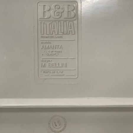 Leren Amanta Modulaire Bank van Mario Bellini voor B&B Italia, 1966
