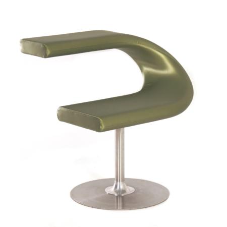 Innovation C Stoel van Fredrik Mattson voor Blå Station, 2000s – Groene Satijn Stof | Vintage Design