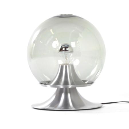 Droomeiland tafellamp van Raak Amsterdam, 1960 – Grote Versie in Transparant Glas | Vintage Design