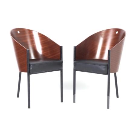 Costes Eetkamer stoelen van Philippe Starck voor Driade, 2000s – 2 stuks | Vintage Design