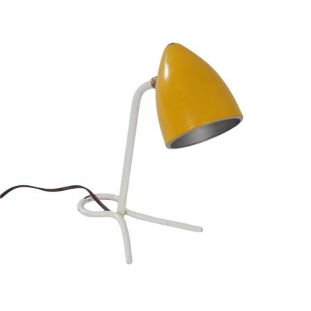Geel Bureau- of Wandlampje van Busquet voor Hala, 1950s | Vintage Design
