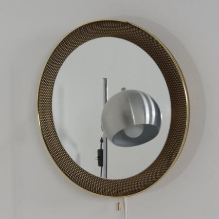 Geperforeerde Spiegellamp van Artimeta , 1960s – Goudkleurig