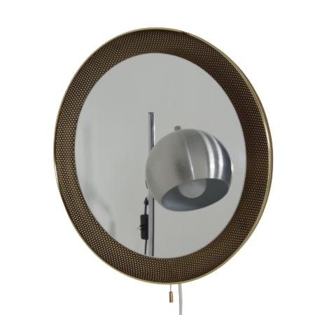 Geperforeerde Spiegellamp van Artimeta , 1960s – Goudkleurig | Vintage Design