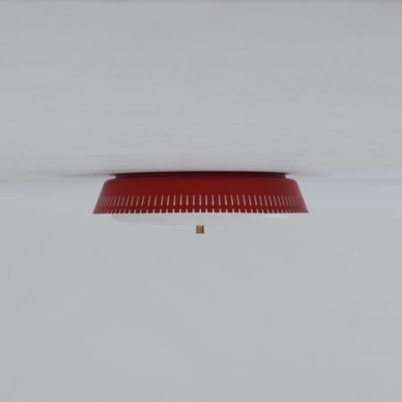 Rode Plafondlamp van Bent Karlby voor Indoor Lampen, 1960s