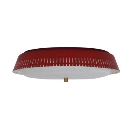 Rode Plafondlamp van Bent Karlby voor Indoor Lampen, 1960s | Vintage Design