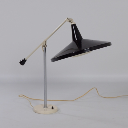 Panama Bureaulamp 5350 van Wim Rietveld voor Gispen, 1956 – Zwart