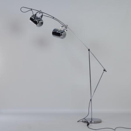 Chromen Sorrento Vloerlamp van Copini & Postuma voor Gepo lampen, 1970s