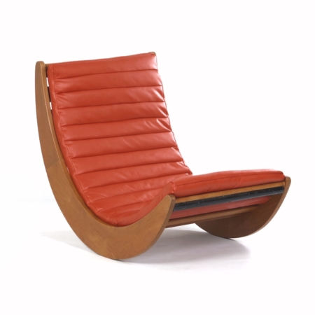 Relaxer 2 Schommelstoel van Verner Panton voor Rosenthal, 1970s – Opnieuw Bekleed | Vintage Design