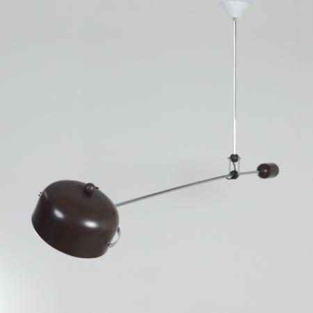 Bruine Hengellamp van J.J.M Hoogervorst voor Anvia, 1960s